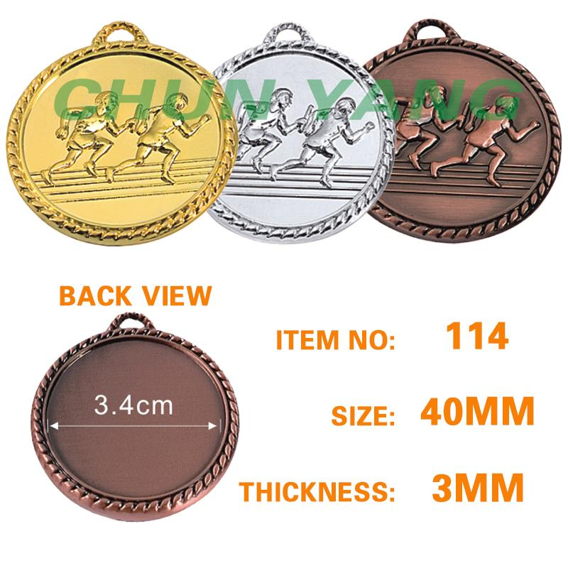 40mm track and field running medal
